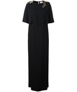 Lanvin | Embellished Stone Maxi Dress 36 Silk/Acetate/Viscose