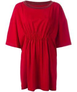 MM6 by Maison Margiela   Mm6 Maison Margiela Knit Trim Wide T-Shirt Dress 40