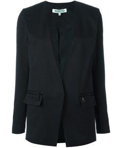 Kenzo | Plunge Neck Blazer 38 Polyester/Spandex/Elastane/Virgin Wool