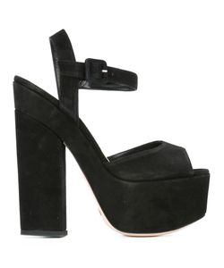 SEBASTIAN MILANO | Platform Sandals 37 Leather/Suede/Rubber