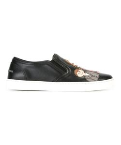 Dolce & Gabbana | London Slip-On Sneakers 35 Leather/Rubber