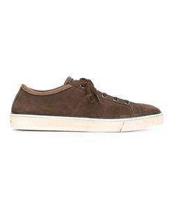 Santoni | Lace Up Sneakers 42.5 Leather/Suede/Rubber