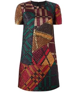 Burberry Runway | Print Shift Dress 42 Silk/Lurex/Polyamide