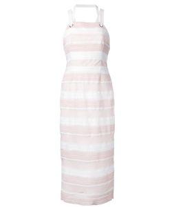 Rebecca Vallance | Testa Apron Midi Dress 8 Polyester