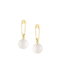 WOUTERS & HENDRIX   Safety Pin Pearl Earrings