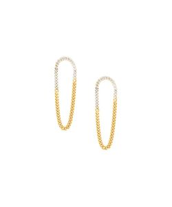 WOUTERS & HENDRIX   Two-Tone Chain Earrings