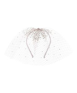 GIGI BURRIS MILLINERY | Embellished Tulle Headband Medium Cotton