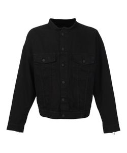 Daniel Patrick | Collarless Buttoned Jacket Small Cotton/Spandex/Elastane