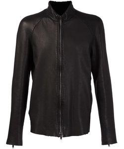 SALVATORE SANTORO | High Neck Zipper Jacket 52 Leather