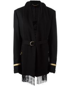 Givenchy | Scarf Lapel Flannel Jacket 40 Polyamide/Polyester/Viscose/Wool