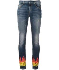 Faith Connexion | Flame Print Skinny Jeans 25 Cotton/Spandex/Elastane