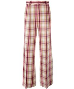 MSGM | Plaid Straight Trousers 44 Polyester/Virgin Wool