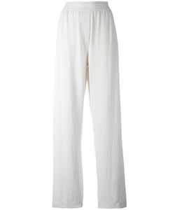 DKNY | Elasticated Waist Trousers Medium Cotton/Spandex/Elastane/Triacetate