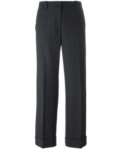 Alberto Biani | Jacquard Tapered Trousers 44 Spandex/Elastane/Virgin Wool