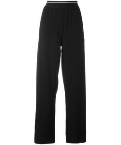 DKNY | Elasticated Waist Trousers Small Cotton/Spandex/Elastane/Triacetate
