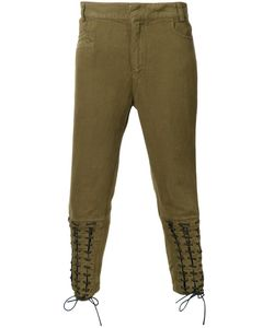 Haider Ackermann | Lace-Up Biker Trousers Xxs Cotton/Linen/Flax