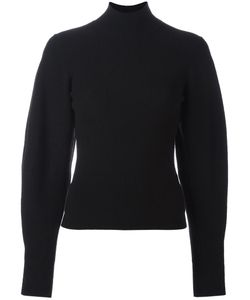 Mugler | Ribbed Puff Sleeve Sweatshirt Small Polyester/Wool