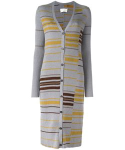 Maison Margiela | Striped Long Cardigan Large Polyester/Viscose/Virgin Wool