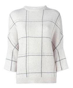 Brunello Cucinelli | Cashmere Grid Print Jumper Medium Cashmere