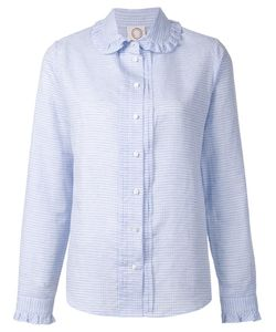 Ines De La Fressange | Ruffle Collar Grid Print Shirt