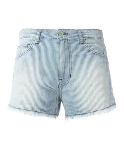 Sandrine Rose | Embroidered Denim Shorts 27 Cotton