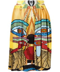 Givenchy | Egyptian Print Pleated Skirt 36 Silk