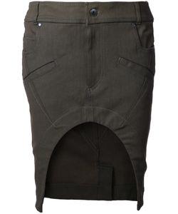Haider Ackermann | Bayard Denim Skirt 36 Cotton/Linen/Flax/Spandex/Elastane