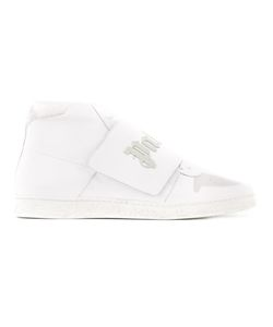 PALM ANGELS | Logo Strap Hi-Top Sneakers 43 Leather/Rubber