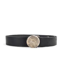 WERKSTATT:M NCHEN   Werkstattmünchen Round Buckle Belt Small Calf Leather/Sterling