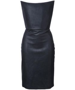Gareth Pugh | Strapless Corset Dress 42 Silk/Cotton/Lamb Skin