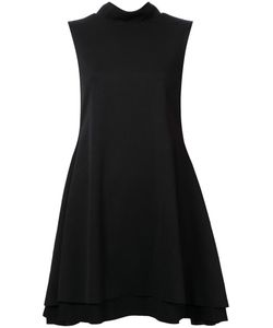 ROBERT WUN | Flared High Collar Dress 12 Polyester