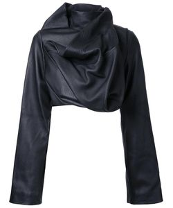 Rick Owens | Cropped Biker Jacket 44 Cotton/Leather