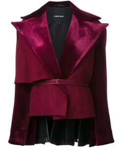 ROBERT WUN | Peplum Back Jacket 8 Nylon/Polyester/Wool