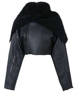 Rick Owens | Cropped Jacket 44 Leather/Sheep Skin/Shearling