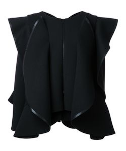 ROBERT WUN | Structured Wide Ruffle Jacket 12 Polyester/Spandex/Elastane