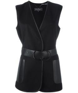 Salvatore Ferragamo | Gancio Belted Gilet 46 Virgin Wool/Cashmere/Leather
