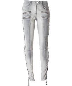Faith Connexion | Lace-Up Side Distressed Jeans 28 Cotton/Spandex/Elastane