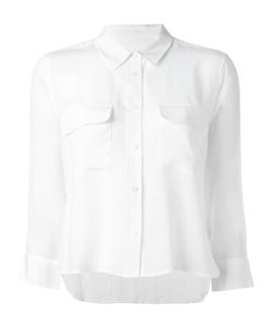 Equipment | Cropped Button Down Shirt Small Silk