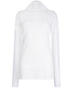 ROBERT WUN | Ribbed Mock Neck Knitted Top 8