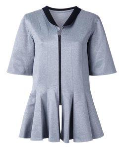 ROBERT WUN | Peplum Front Blouse 12 Polyester