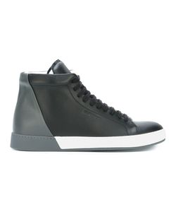 Jil Sander | Lace Up Hi-Top Sneakers 39 Leather/Rubber