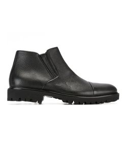 Baldinini | Side Zip Boots 42.5 Leather/Rubber