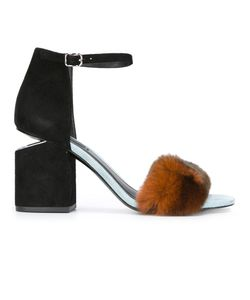 Alexander Wang | Abby Sandals 38.5 Leather/Rabbit Fur/Suede