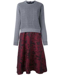 Christian Pellizzari   Cable Knit Lace Dress 42 Cotton/Elastodiene
