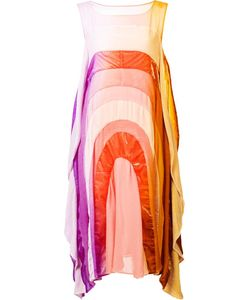 Tsumori Chisato | Flared Round Rainbow Dress 2 Nylon/Polyester/Velvet