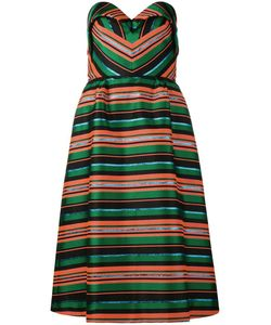 Delpozo | Striped Dress 34 Silk/Polyester/Viscose