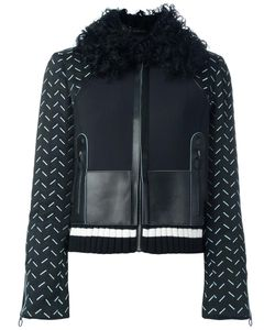 Versace | Stitched Sleeve Jacket 44 Lamb Skin/Polyamide/Spandex/Elastane/Lamb Fur