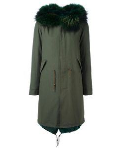 Furs66 | Fur Trim Paneled Parka 38 Cotton/Leather/Polyester/Coyote Fur