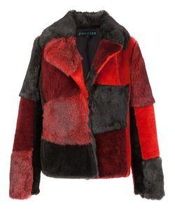 JOCELYN | Patchwork Jacket Small Rabbit Fur/Sheep Skin/Shearling/Polyester