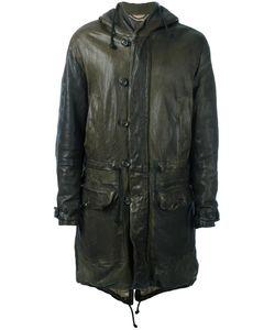 Pihakapi | Hooded Leather Coat Medium Lamb Skin/Viscose